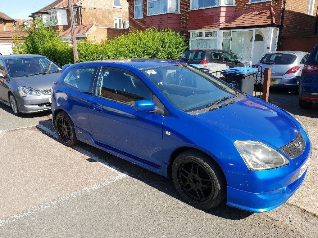 Honda civic 1.6 petrol 3 door type s alloy wheels and new tyres log book and