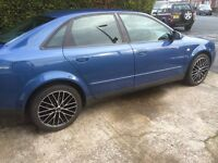 """audi a4 ,2002 ,in great condition,full years mot with no advisories,17"""" alloys"""