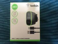 Belkin USB-C cable+home charger