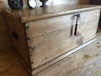 Lower Price with Edwardian Oak Blanket Bedding Box Chest Coffee Table Bedroom Wood Antique 100% Guarantee Boxes/chests Edwardian (1901-1910)