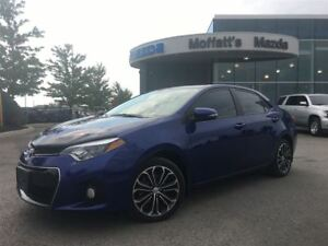 2015 Toyota Corolla S LEATHER, SUNROOF, HEATED SEATS, BACKUP CAM
