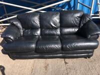 Leather Sofa & Chair