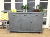 """VINTAGE SIDEBOARD FREE DELIVERY LDN🇬🇧Chest """"Grey"""""""