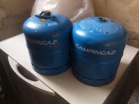 2 Camping Gaz gas bottles. Type 907 (2.75kg) plus regulator