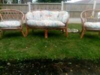 Wicker chairs and two seater
