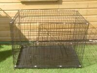 DOG CAGE X LARGE WITH METAL TRAY £30