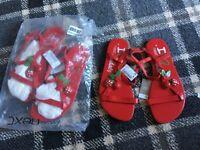 Girls strawberry sandals