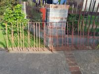 Wrought iron gate no hinges