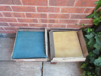 Two boxes of Aurelia Ceramic Italian tiles 13mm thick colour Verde & Piastrelle