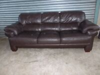 Large Brown Full Hide Leather 3+2-seater Suite (Sofa)