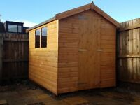 8x6 GARDEN SHED NEW & FITTED