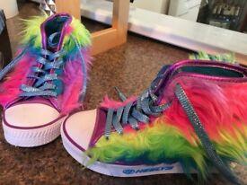 Girls heelys size 1,worn once