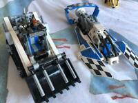 9 technic lego kits.