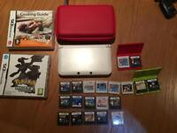 Nintendo 3DS XL White with 22 Games