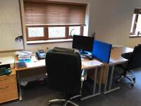 Office furniture to clear, desk chairs and pedestal