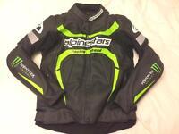 Alpinestars 2 piece race suit leathers as new EU 52 UK 42