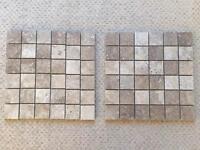 2 sheets of natural stone mosaic tikes