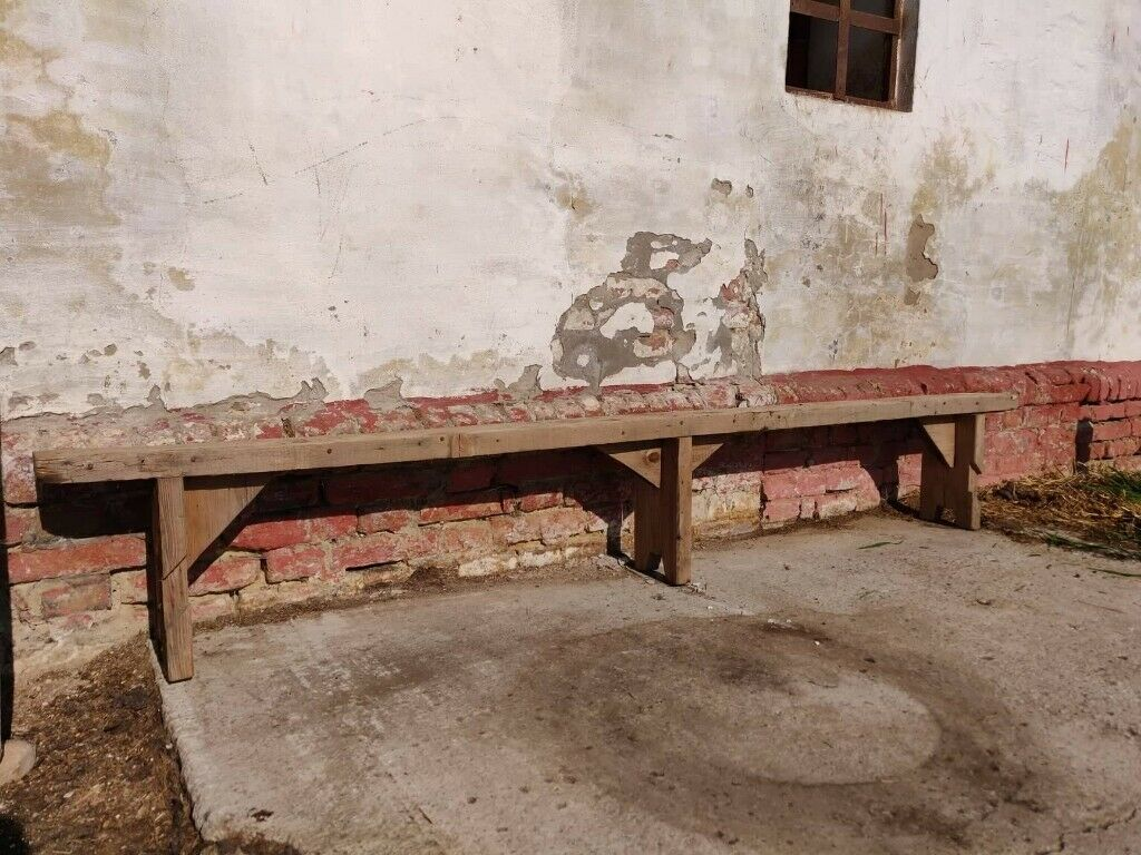 Remarkable Vintage Wooden School Garden Bench Rustic Chairs Or Stool In Finsbury Park London Gumtree Caraccident5 Cool Chair Designs And Ideas Caraccident5Info