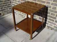 FREE DELIVERY Retro Wooden TV Trolley Side Table