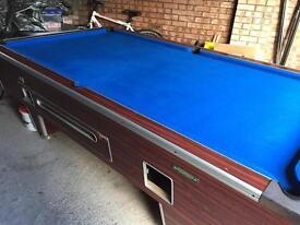 Full size English pool table