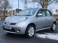 NISSAN MICRA 1.2 PETROL 2009(58 REG)*LONG MOT*SERVICE HISTORY*CHEAP RUNING COST*PX WELCOME*DELIVERY