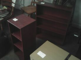 bargain pouffe, bookcase and dvd rack!!!!