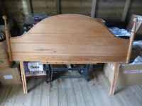 Pine headboard for 5 foot divan for sale