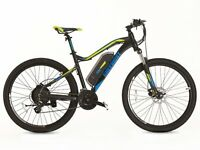 GREENWAY electric mountain bike, PANASONIC cell lithium battery LCD, PAS system £850