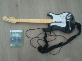 beetles rock band xbox 360 and wired guitar controller