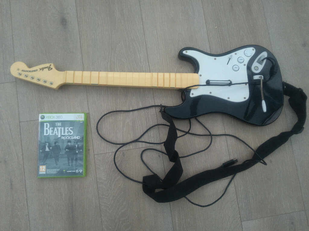 beetles rock band xbox 360 and wired guitar controller | in Roundhay ...