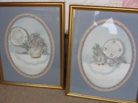 Set of 2 ORIGINAL American paintings