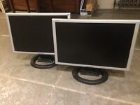 "2 X 19"" Widescreen Hanns.G LCD Monitors"