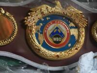 3/4 sized WBO world title boxing championship belt