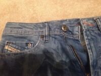 DIESEL JEANS SIZE KIDS 8 DISTRESSED Unisex