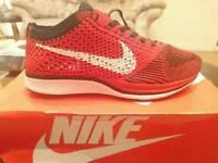 Men's/Women's Nike Flyknit Racer Running Shoes University Red/White/Black **Brand new, size 3