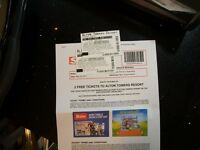 ALTON TOWERS TICKETS X3 23rd MAY