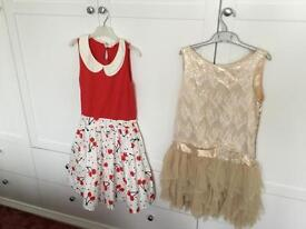Age 12-13 set of 2 party dresses