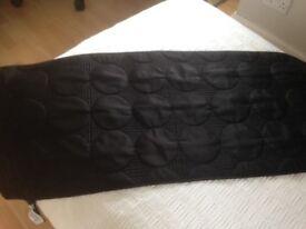 Bed throw/ runner & cushion m&s