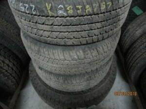 215/60R16 SET OF 4 MATCHING USED FIRESTONE A/S TIRE