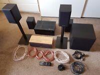 Complete 5.1 (7.2 AV Reciever) Home Cinema Audio Seperates System