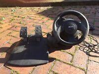 Microsoft Sidewinder Force Feedback Racing Wheel for PC (USB)
