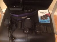 Canon EOS 5D Mk1 Full frame DSLR with grip, memory card and two lenses. Excellent condition