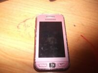 *Used* Old Samsung Pink Phone for Kids That Just Want Take Pic And Listen To Music