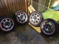 Peugeot alloys wheels 4x108 205 speedlines