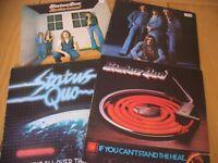 VINYL ALBUMS - STATUS QUO - 4 COLLECTABLE VINYL ALBUMS