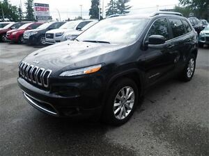 2015 Jeep Cherokee Limited-4X4-Auto-Leather-Sunroof-NAV