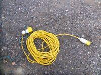 Heavy duty 110v hook up lead (68ft long)