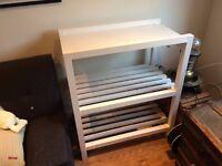 White Handmade Shelves / Storage Unit / Baby Changing Station