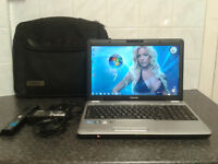 TOSHIBA SATELLITE L500 i3 QUAD-CORE 2.133GHZ X4 WIN 7 ULTIMATE 320GB HDD HDMI 4GB RAM WITH CHARGER
