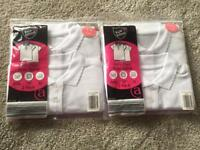Girls white polo shirts- age 5-6